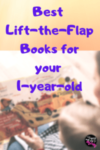 a mom and baby reading a book with text best lift-the-flap books for your 1-year-old