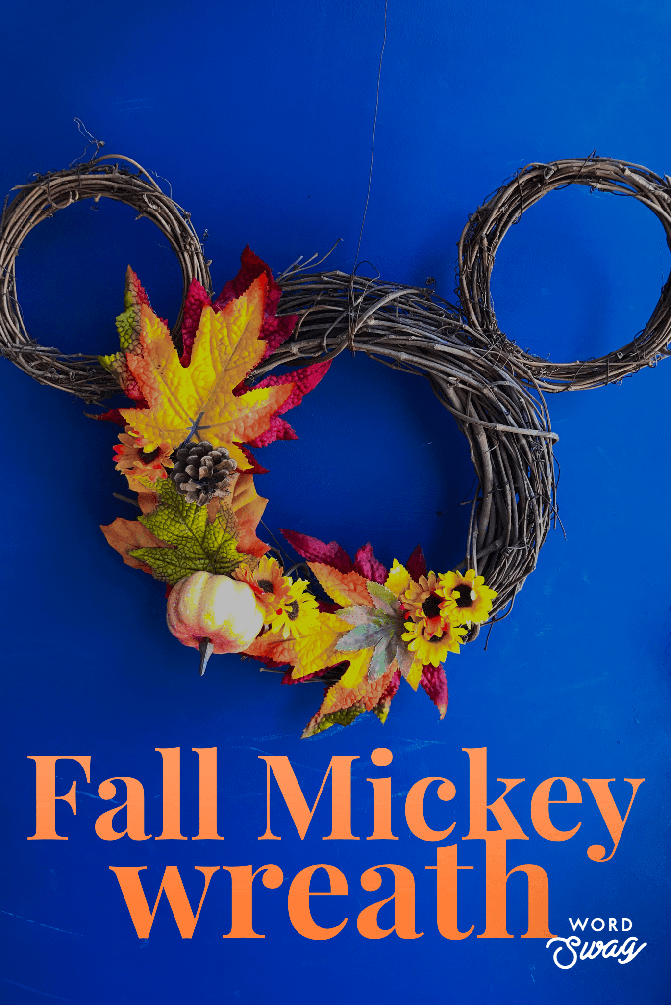 Fall Mickey Wreath