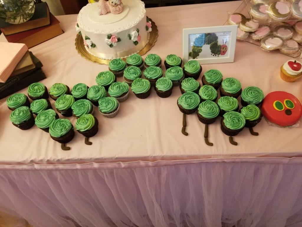 the very hungry caterpillar childrens book cupcakes