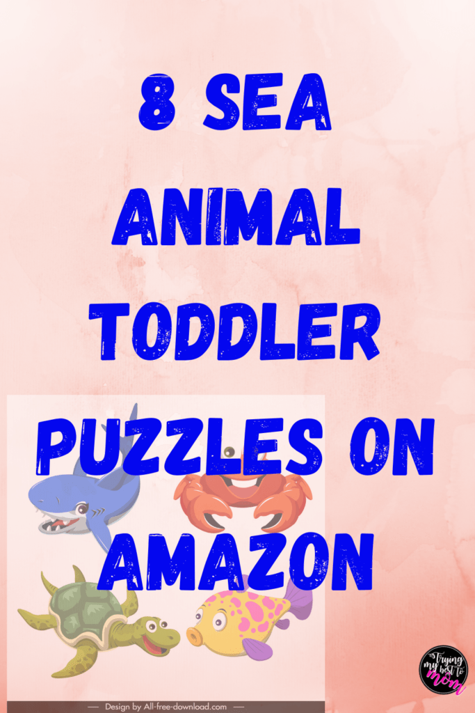 sea animal behind text 8 sea animal toddler puzzles on amazon