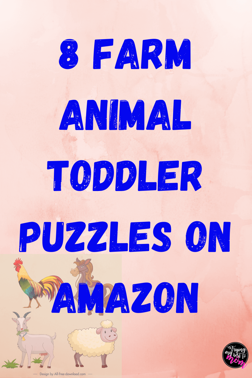 Farm Animal Puzzles for Toddlers