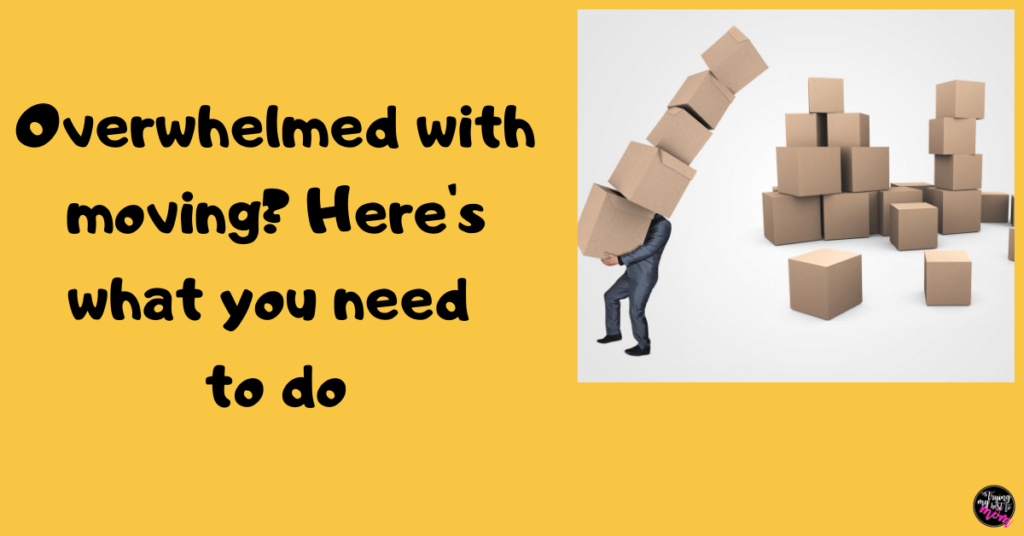 man carrying boxes with text overwhelmed with moving heres what you need to do