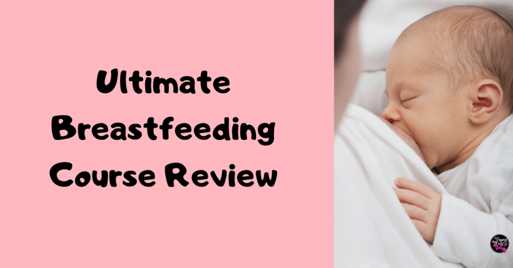 infant breastfeeding with text ultimate breastfeeding course review