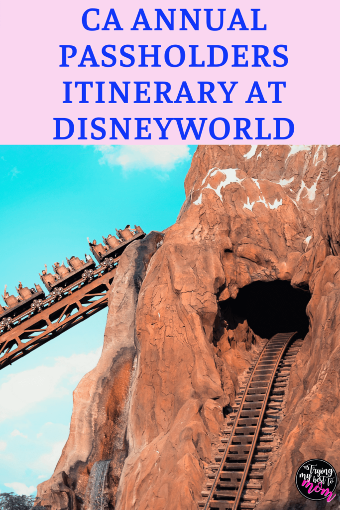 expedition everest with text ca annual passholders itinerary at disneyworld
