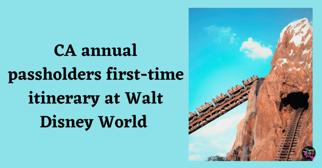 expedition everest with text ca annual passholders first-time itinerary at walt disney world