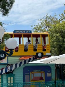 a bus ride at adventure city